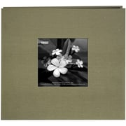"Pioneer® 8"" x 8"" Silk Postbound Album With Photo Window, Caramel"