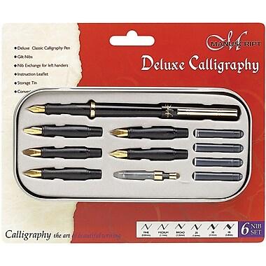 Manuscript 6 Nib Deluxe Calligraphy Pen Set