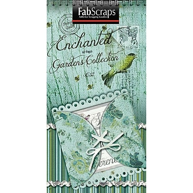 Fabscraps Enchanted Gardens Journal Tag, 8in. x 4in.