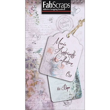 Fabscraps Marie Antoinette Journal Tag, 8in. x 4in.