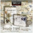 Fabscraps Romantic Travel Folios & Envelopes Die-Cut Work Book, 8in. x 8in.