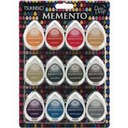 "Tsukineko® 1 7/8"" x 1 1/4"" x 7/8"" Memento Dew Drop Dye Inkpad, Snow Cones, 12/Pack"