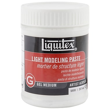 Reeves Liquitex Non-toxic 8 oz. Light Modeling Paste Acrylic Gel Medium (MP6808)