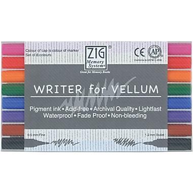 Zig Memory System 8 Piece Vellum Writer Dual Tip Markers Set