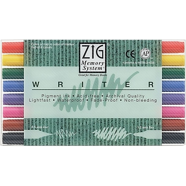 Zig Memory System 8 Piece Writer Dual Tip Markers Set