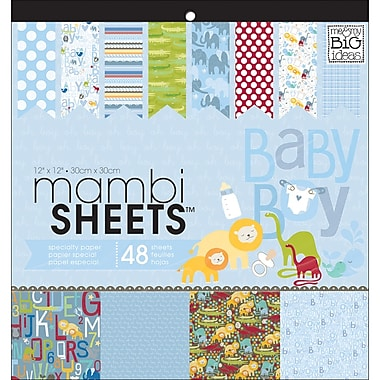 MAMBI® Oh Baby Boy Specialty Cardstock, 12