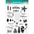 Penny Black® 5in. x 7 1/2in. Clear Stamp, Salutations