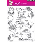 """Penny Black® 5"""" x 7 1/2"""" Clear Stamp, Hugs"""
