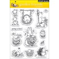 Penny Black® 5in. x 7 1/2in. Clear Stamp, Garden Friends