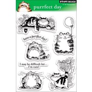 """Penny Black® 5"""" x 7 1/2"""" Clear Stamp, Purrfect Day"""