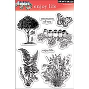 "Penny Black® 5"" x 7 1/2"" Clear Stamp, Enjoy Life"