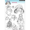 Penny Black® 5in. x 7 1/2in. Clear Stamp, Jolly Friends
