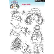 """Penny Black® 5"""" x 7 1/2"""" Clear Stamp, Jolly Friends"""
