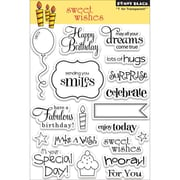 "Penny Black® 5"" x 7 1/2"" Clear Stamp, Sweet Wishes"