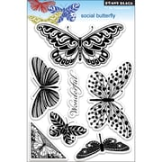 "Penny Black® 5"" x 7 1/2"" Clear Stamp, Social Butterfly"