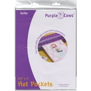 Purple Cows® 8 1/2 x 11 Hot Pockets Laminating Pouches