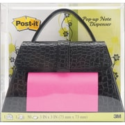 "3M™ Post-It® Pop Up 3"" x 3"" Notes Dispenser, 50/Pack, Black Purse"