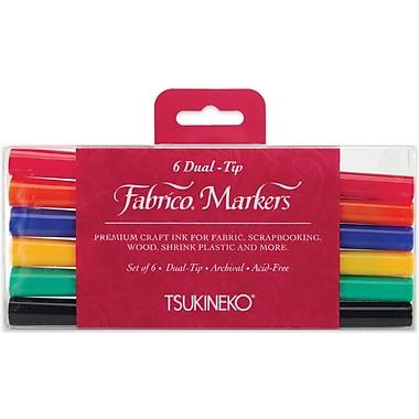 Tsukineko® Fabrico® 6 Piece Standard Dual Tip Markers Set