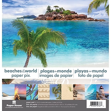 Paper House Beaches Of The World Double Sided Paper Pad, 12