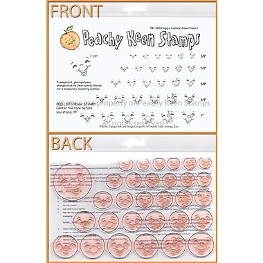Peachy Keen Clear Stamp Face Assortment, Happy Lashes