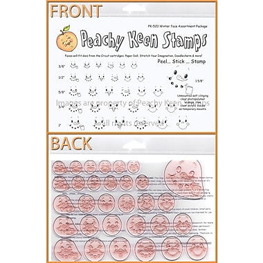Peachy Keen Clear Stamp Face Assortment, Winter
