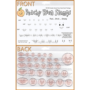 Peachy Keen Clear Stamp Face Assortment, Simple Simons