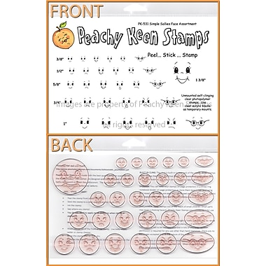 Peachy Keen Clear Stamp Face Assortment, Simple Sallies