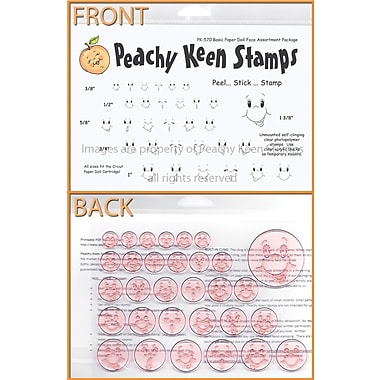 Peachy Keen Clear Stamp Face Assortment, Basic Paper Doll