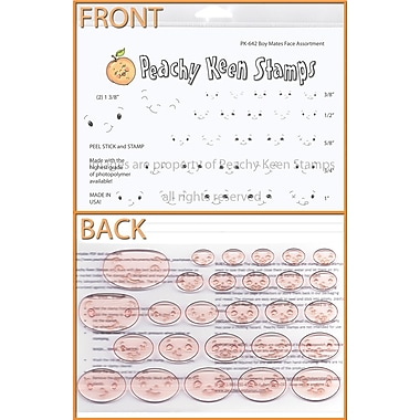 Peachy Keen Clear Stamp Face Assortment, Boy Mates