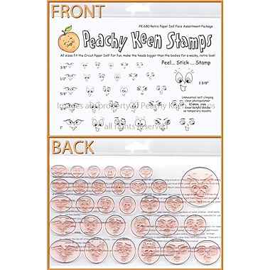 Peachy Keen Clear Stamp Face Assortment, Retro Paper Doll