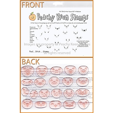 Peachy Keen Clear Stamp Face Assortment, Critter