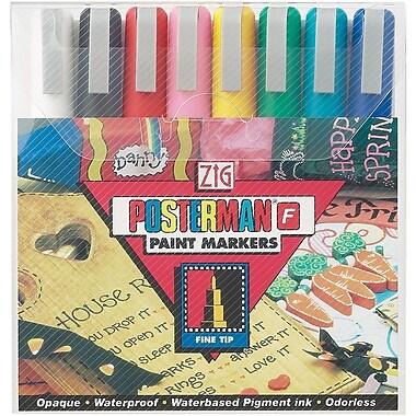 Zig Posterman 8 Piece Fine Tip Markers Set