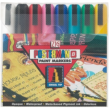 Zig Posterman 8 Piece Broad Tip Markers Set