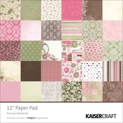 Kaisercraft Single Sided 160gsm Precious Moment Paper Pad, 12 x 12