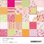 Kaisercraft Single Sided 160gsm Sweet Treats Paper Pad, 12 x 12