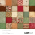 Kaisercraft Single Sided 160gsm Christmas Tradition Paper Pad, 12in. x 12in.