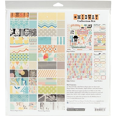 October Afternoon Midway Collection Kit, 12in. x 12in.