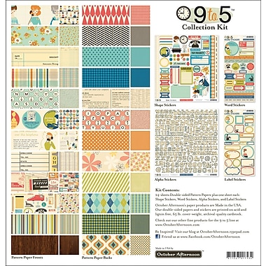 October Afternoon 9 To 5 Collection Kit, 12in. x 12in.