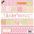 Diecuts With A View® Baby Girl 2 Paper Stack, 12in. x 12in., 48/Pack