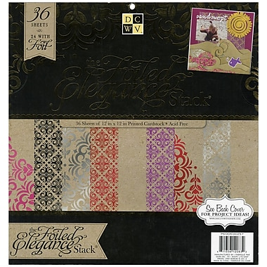 Diecuts With A View® Elegance Paper Stack, 12in. x 12in., 36/Pack