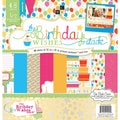 Diecuts With A View® Birthday Paper Stack, 12in. x 12in., 48/Pack