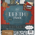 Diecuts With A View® Denim Paper Stack, 12in. x 12in., 48/Pack