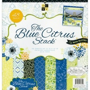 "Diecuts With A View® Blue Citrus Paper Stack, 12"" x 12"", 48/Pack"