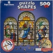 Paper House 17in. x 23in. Jigsaw Shaped Puzzle, in.Stained Glassin.