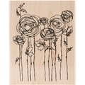 Stampendous® 4in. x 5 1/4in. Mounted Stamp, Ranunculus Field