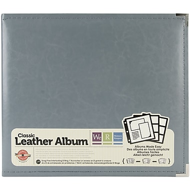 We R Memory Keepers 3-Ring Binder, 12in. x 12in., Charcoal Grey