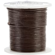 Silver Creek® Round 1mm 25yd Leather Lace, Brown