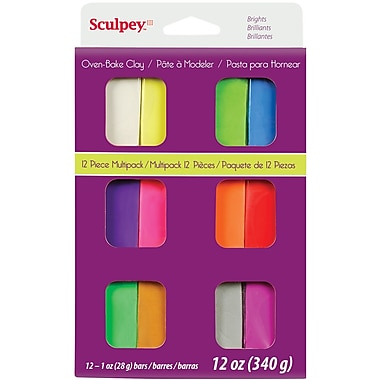 Polyform® Brights Sculpey® III Multi Packs Oven Bake Polymer Clay