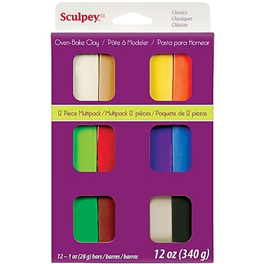 Polyform® Classics Sculpey® III Multi Packs Oven Bake Polymer Clay