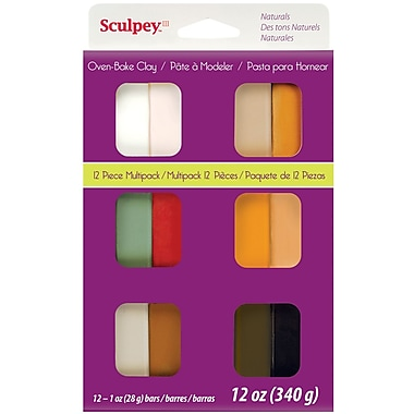 Polyform® Naturals Sculpey® III Multi Packs Oven Bake Polymer Clay